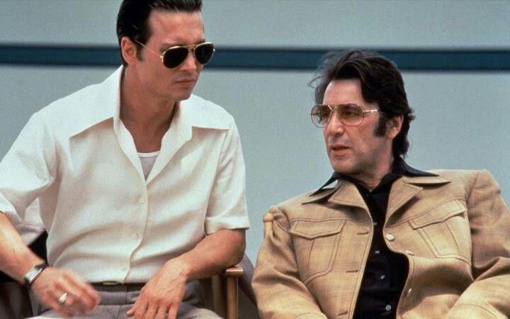 "Johnny Depp with Al Pacino in ""Donnie Brasco"" 1997"