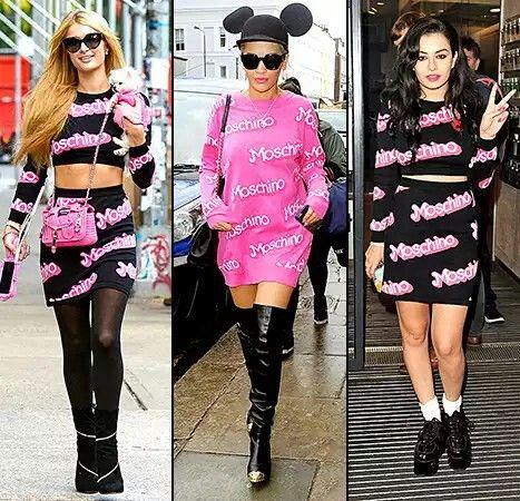 Paris Hilton, Rita Ora, and Charli XCX