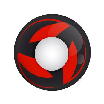 Ninja Kakashi - rote Mangalinse mit Stärke von Lensspirit #contacts #contactlenses