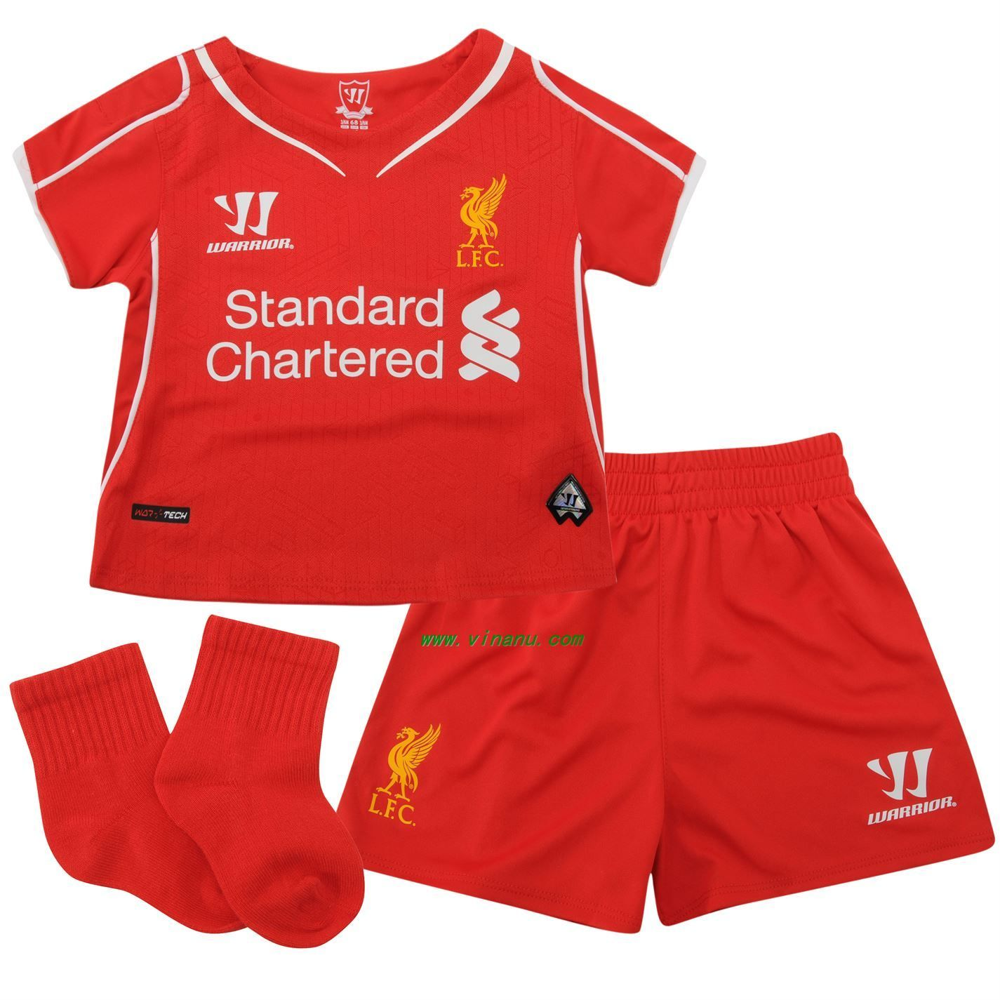 the new soccer jersey for the new season from liverpool. it is for kids .