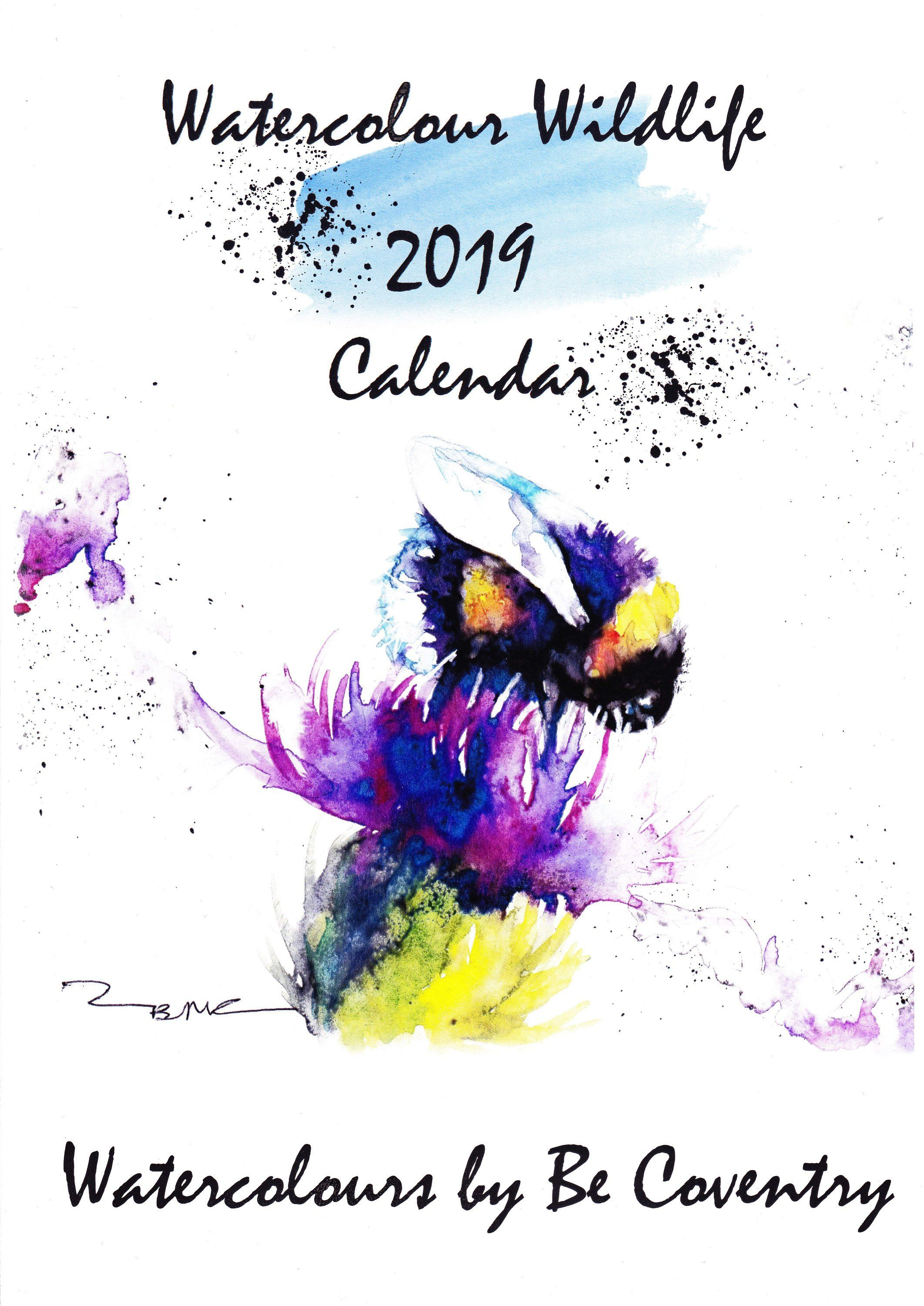 Please To Launch My 2019 Watercolour Wildlife 2019 Calendar