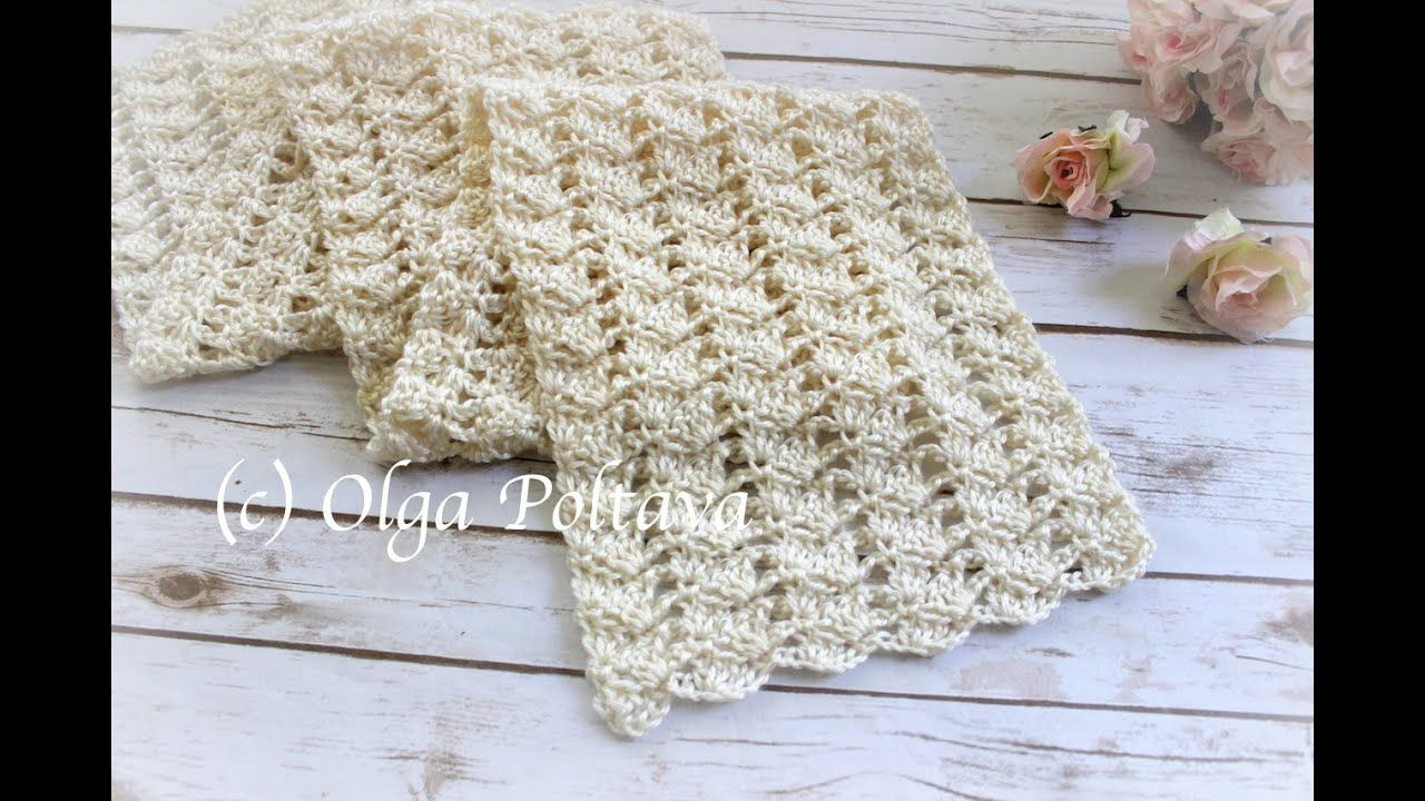 How to Crochet Very Easy Lacy Scarf, Lacy Rows Stitch