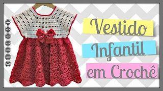 vestido de croche - YouTube