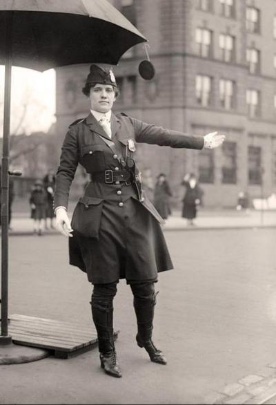Mrs. King, Traffic Cop, c.1918 by Harris & Ewing.