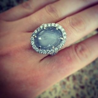 Platinum Vintage Star Sapphire Engagement Ring....Great blog for everything jewelry related. mcmahler