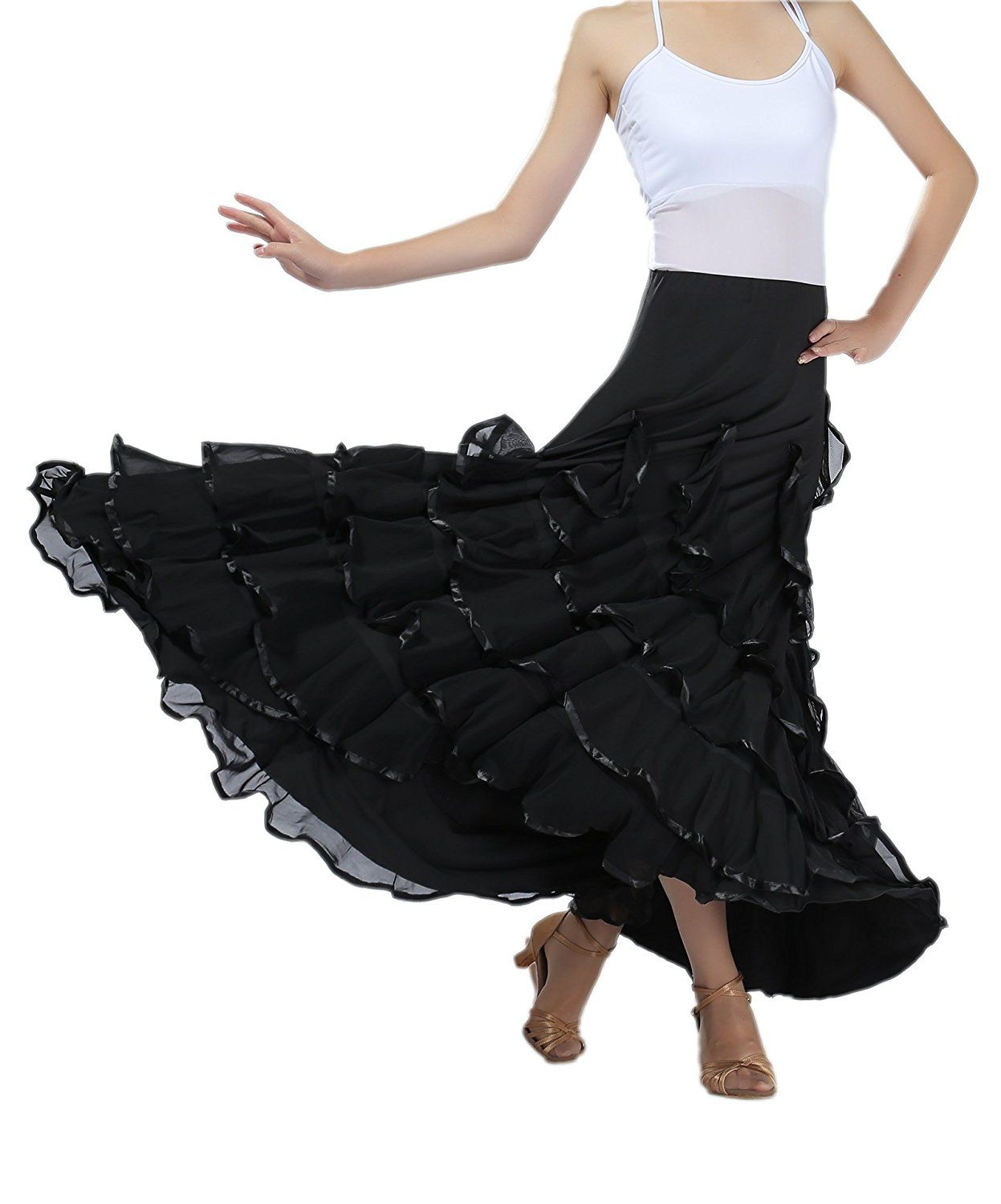 197f4b8bf CISMARK Elegant Ballroom Dancing Latin Dance Party Long Swing Race Skirt  *** This is an Amazon Affiliate link. Visit the image link more details.