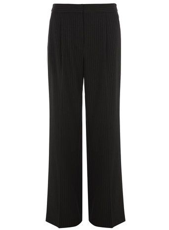 Tall Grey Pinstripe Wideleg Trousers