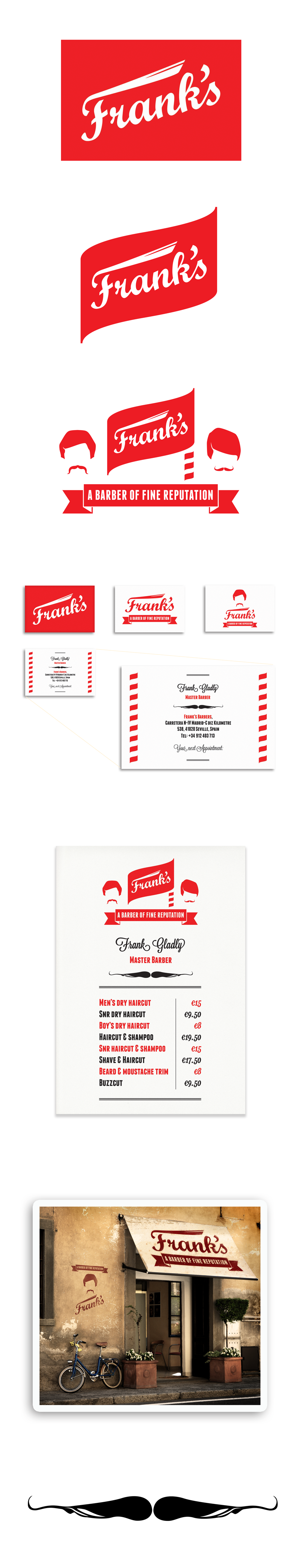 Franks barber shop seville by theory unit graphic design logo franks barber shop seville by theory unit graphic design logo business card price reheart Gallery
