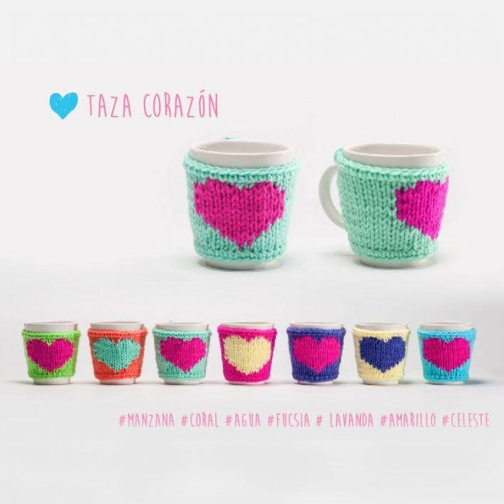 Taza Corazón | Cubre taza crochet | Pinterest | Croché, Ganchillo y ...