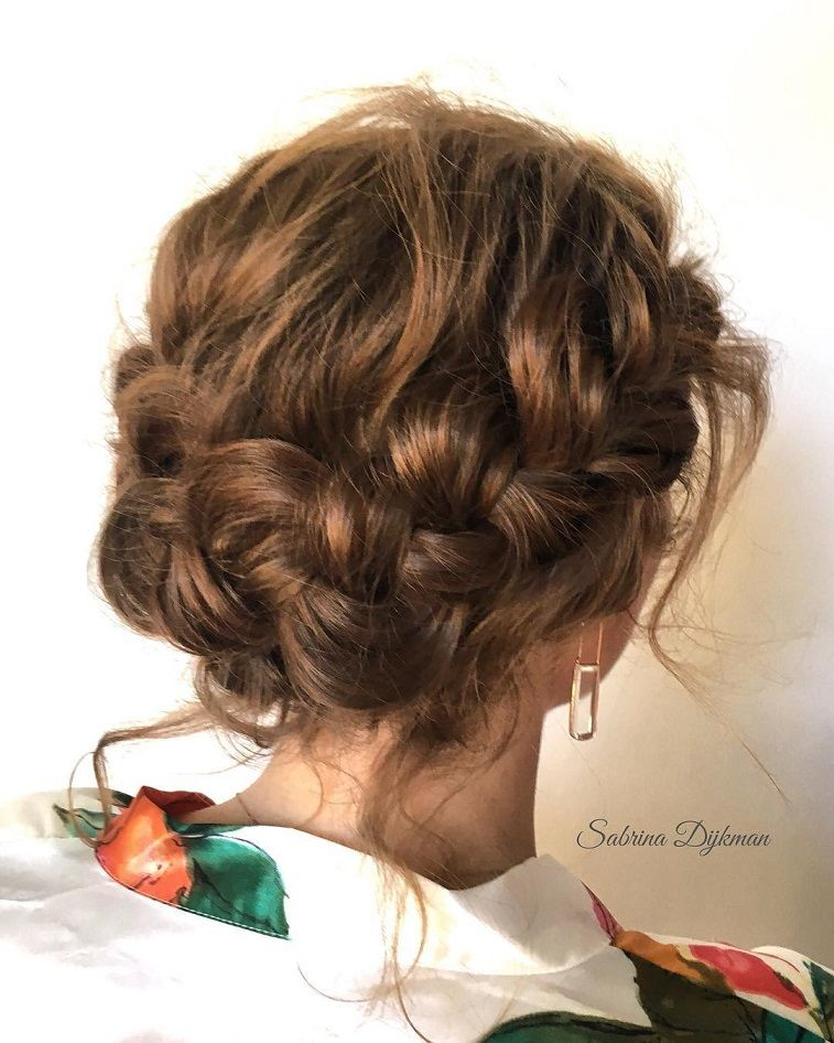 Dutch crown braids