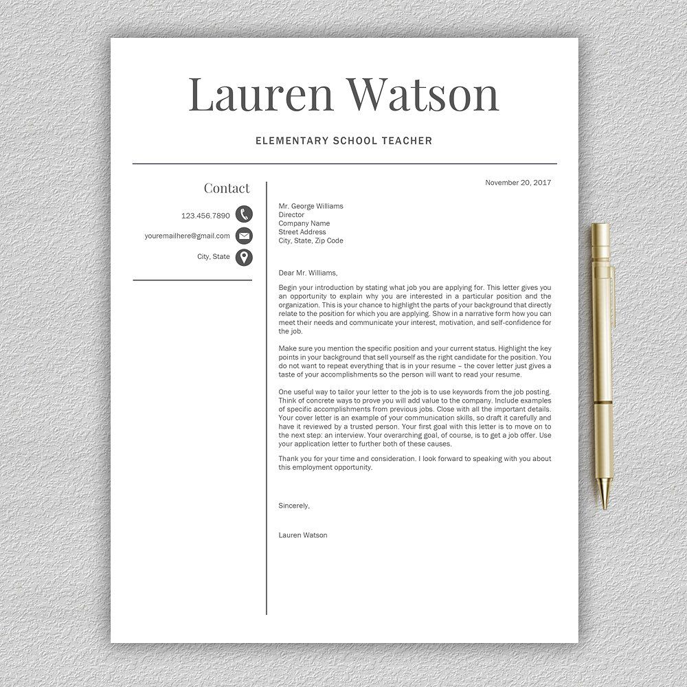 Resume Template, Teacher Cv