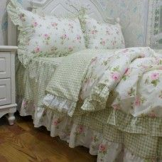Korean rustic floral bedding set