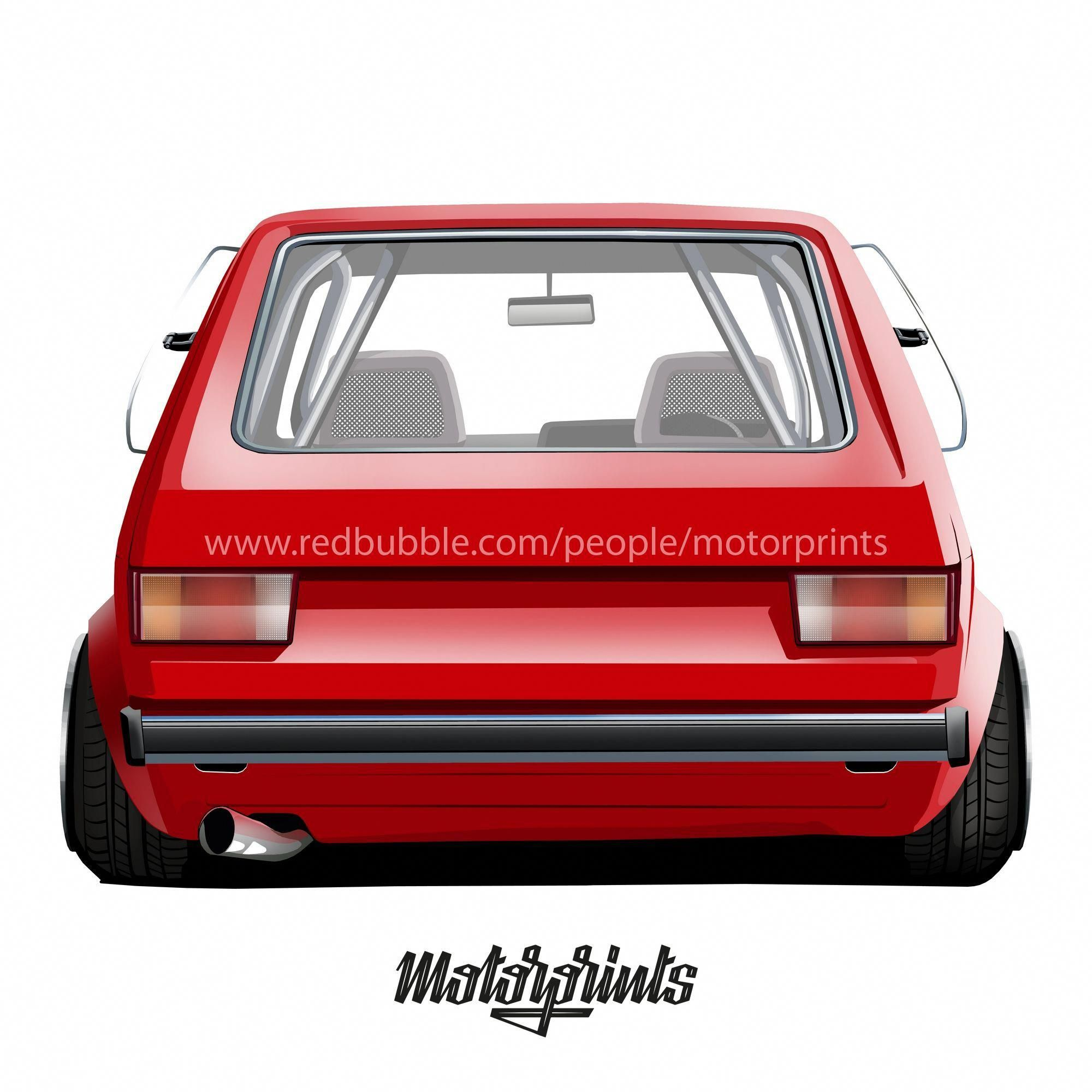 Vw Golf 1 Red Devil: Volkswagen Golf 1 (red) #volkswagen #golf #golf1 #golfi