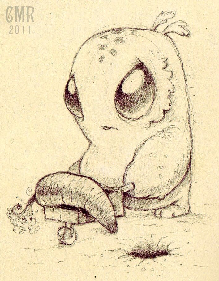 Cute creature art by Chris Ryniak