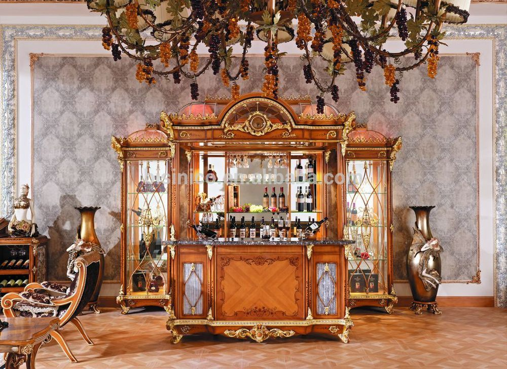 Luxury French Baroque Style Bar Furniture European Classic Hand