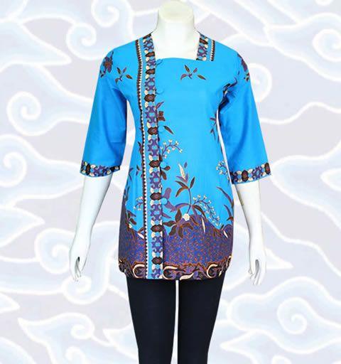 beragam model Baju Blus Batik Atasan Wanita motif batik Pekalongan dan Solo 8a17db2a7a