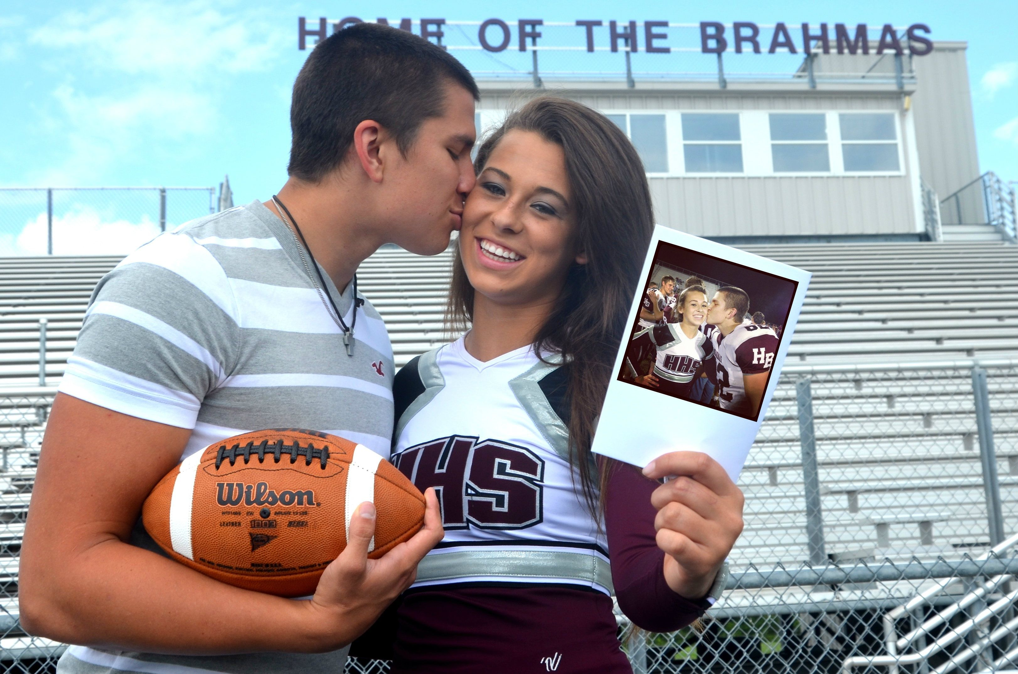 relationship goals football and cheerleader couple