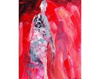Items similar to Figures • Abstract Figure Art • Modern Figure Painting Reproduction • Vivid • Contemporary Nude Fine Art Print on Etsy