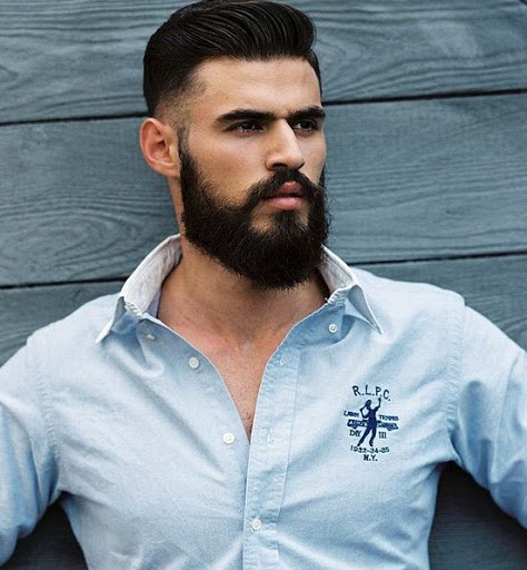 the modern full beard style need a haircut with trimming sides and full beard like a v shape. Black Bedroom Furniture Sets. Home Design Ideas