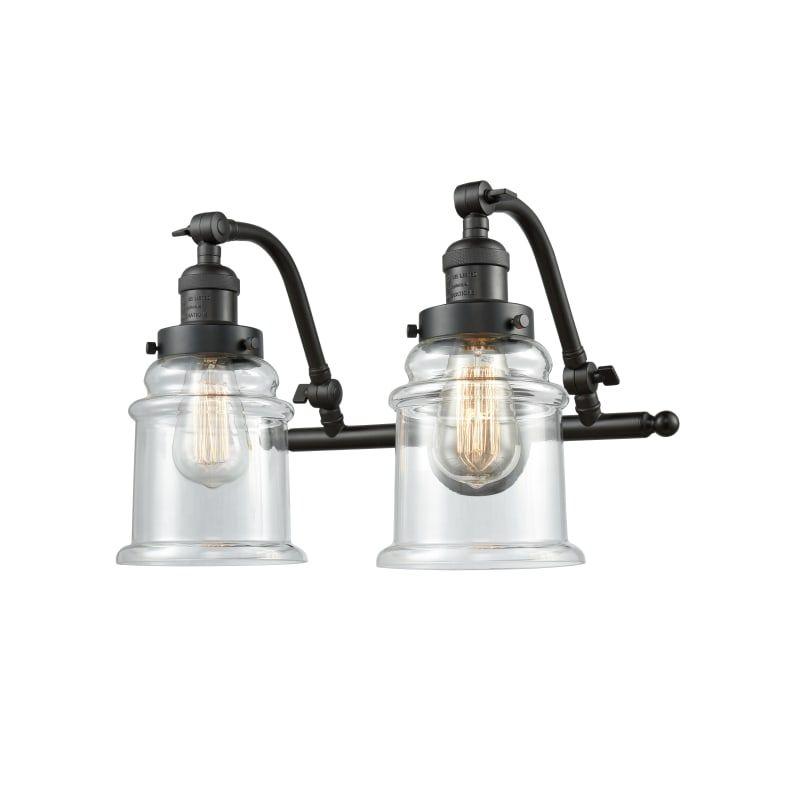 Photo of Innovations Lighting 515-2W Canton Canton 2 Light 18″ Wide Bathroom Vanity Light Oiled Rubbed Bronze / Clear Indoor Lighting Bathroom Fixtures Vanity