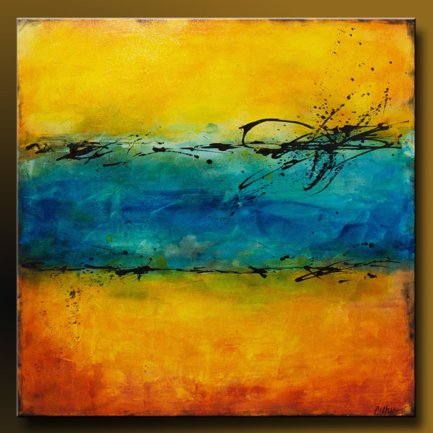 The Dream - Abstract Acrylic Painting- 36x36 - Contemporary Fine ...