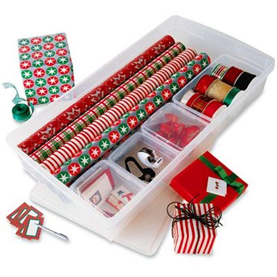 custom gift wrap storage center from the container store christmas decoration storage ideas made in usa
