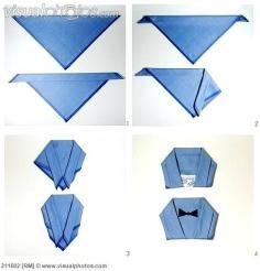 DIY Tutorial DIY Cloth Napkins / How to Fold Cloth Napkins in to bow - Bead&Cord #clothnapkins