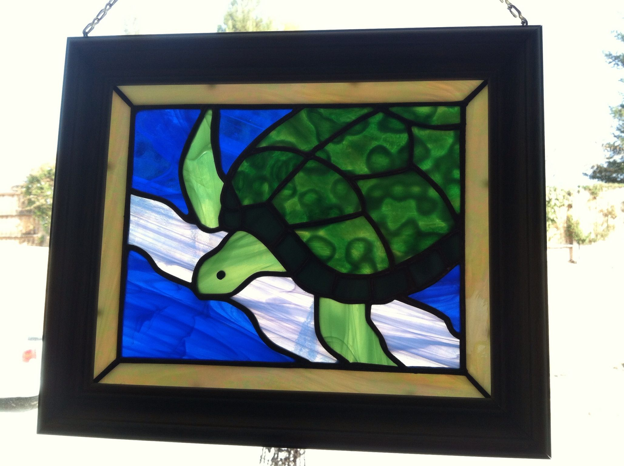turtle just hanging around my stained glass pinterest turtle