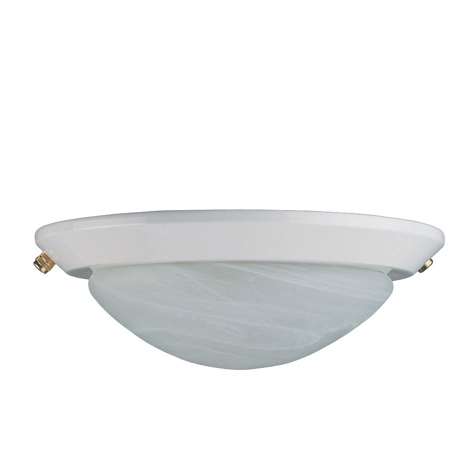 Concord Fans 2 Light White Finish Low Profile Ceiling Fan Light