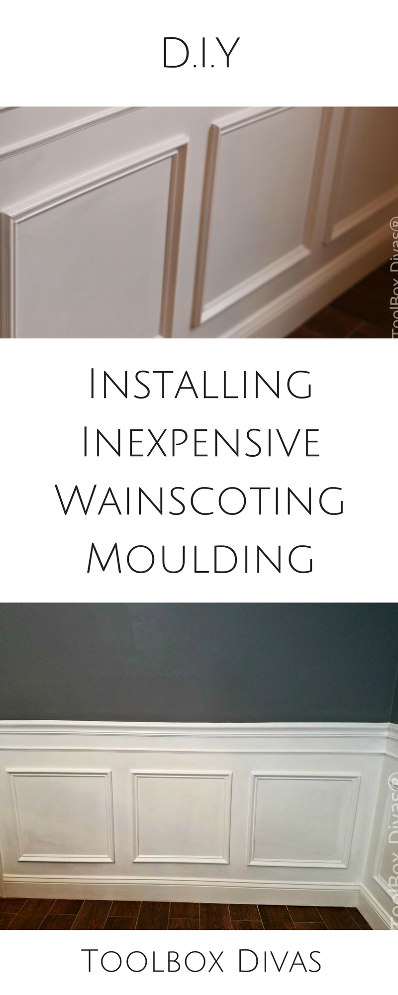 Step By Diy How To Tutorial Installing Wainscoting Dining Room Wall Treatment Beadboard Moulding Molding Trim Picture Frame Toolboxdivas