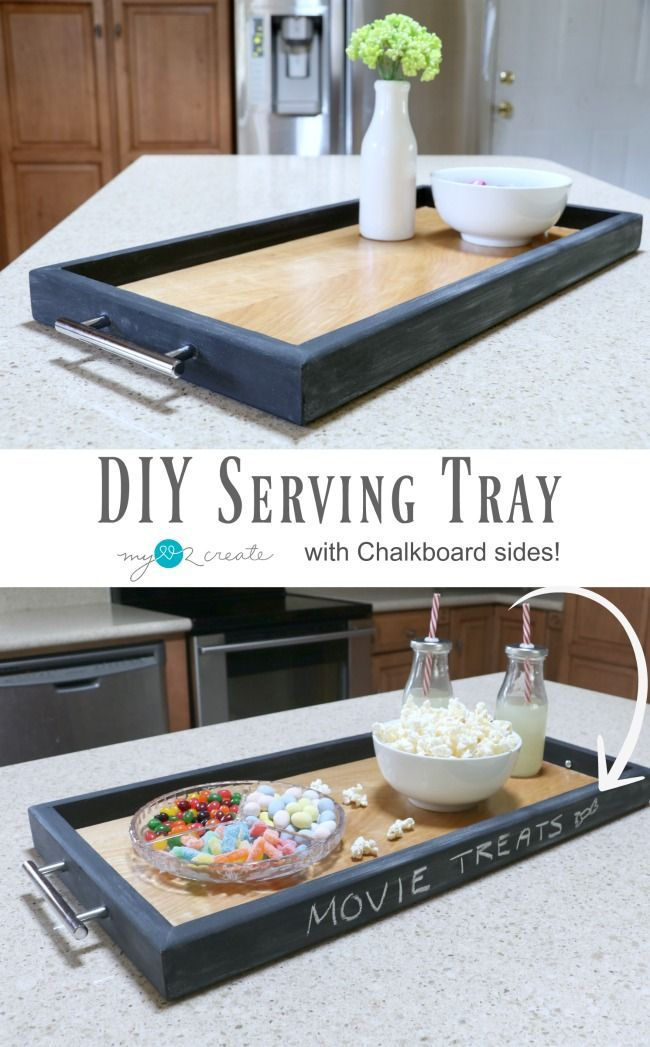 Easy Picture Tutorial On How To Make A Diy Serving Tray Out