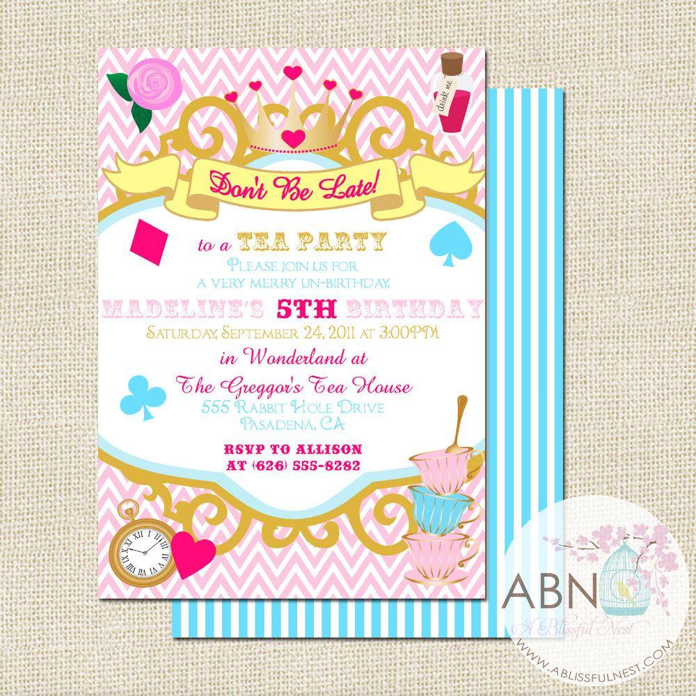 13 New Unbirthday Party Invitations send an ecard