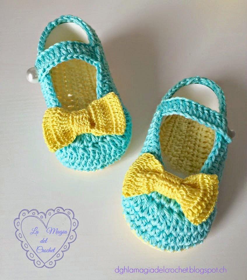 Patrones Crochet, Manualidades y Reciclado: ZAPATOS DE BEBÉ A ...