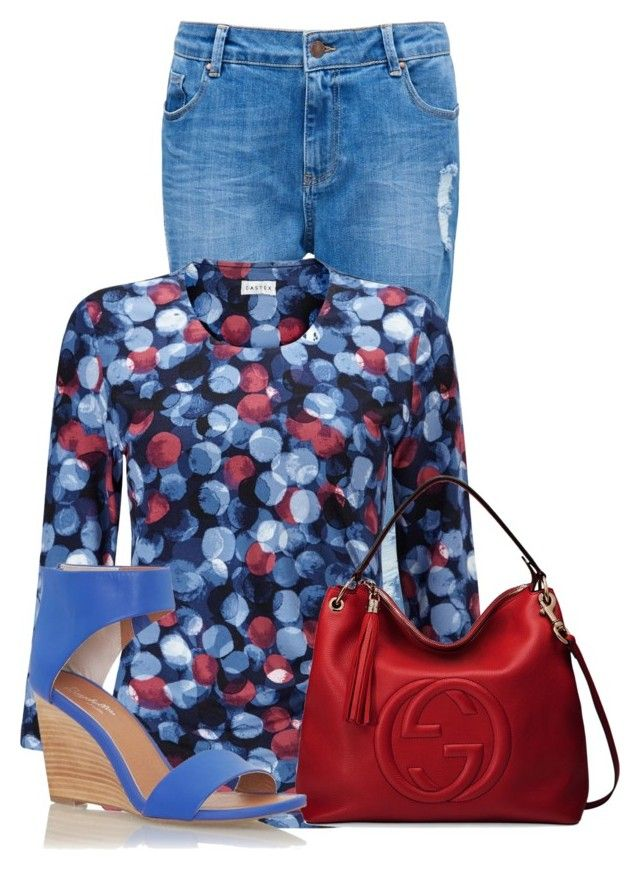 """""""Untitled #18338"""" by nanette-253 ❤ liked on Polyvore featuring Forever New, Eastex, Gucci and Seychelles"""