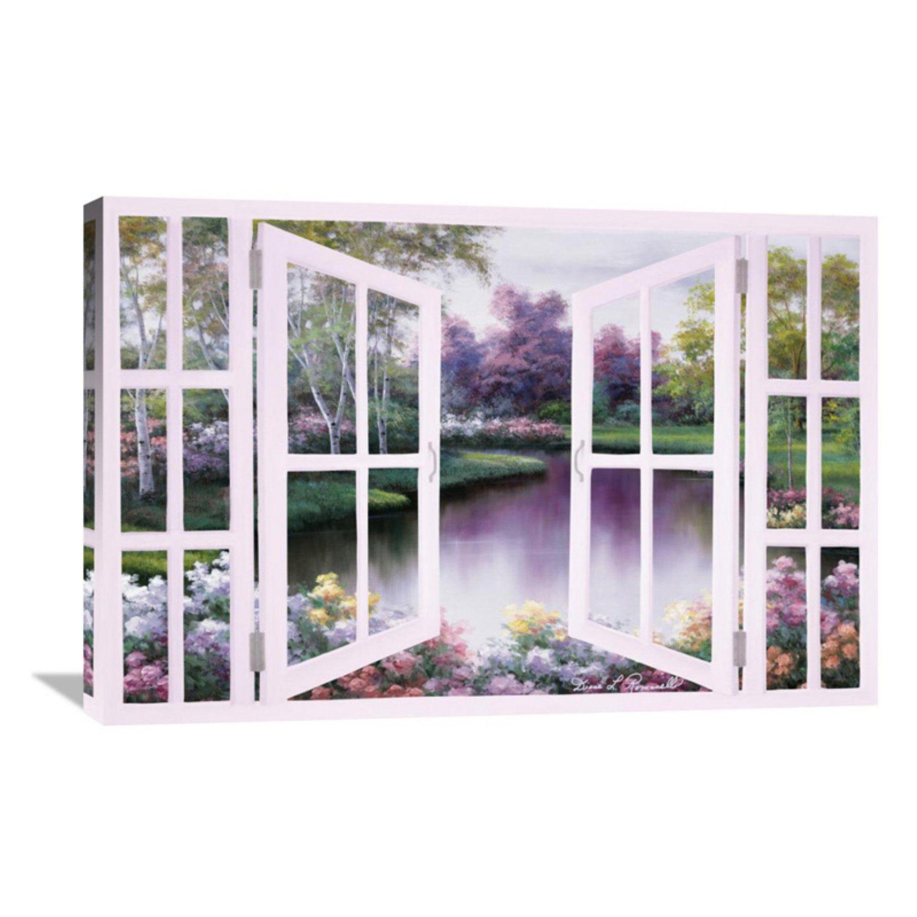 Global gallery springtime symphony through door wall art gcs
