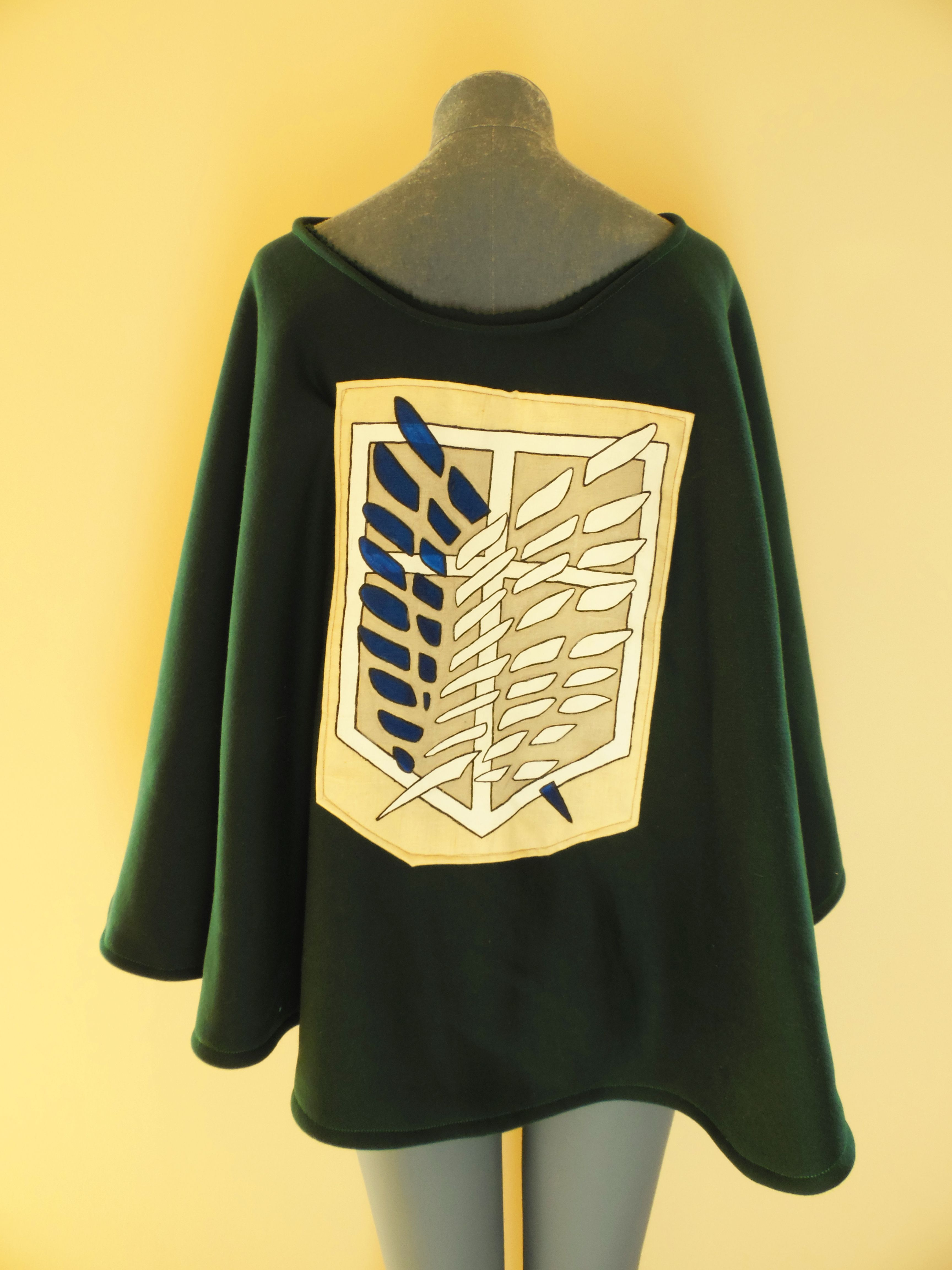 Attack on titan serving corps cape made with fleece cotton cotton