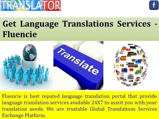 Get Language Translations Services Fluencie Ppt Presentation Language Translation Language Translation