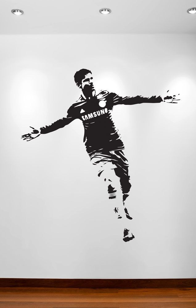 DIEGO COSTA Silhouette FOOTBALLER Wall Art Sticker Decal Home DIY Vinyl Wall Mural Removable Bedroom Decor & DIEGO COSTA Silhouette FOOTBALLER Wall Art Sticker Decal Home DIY ...