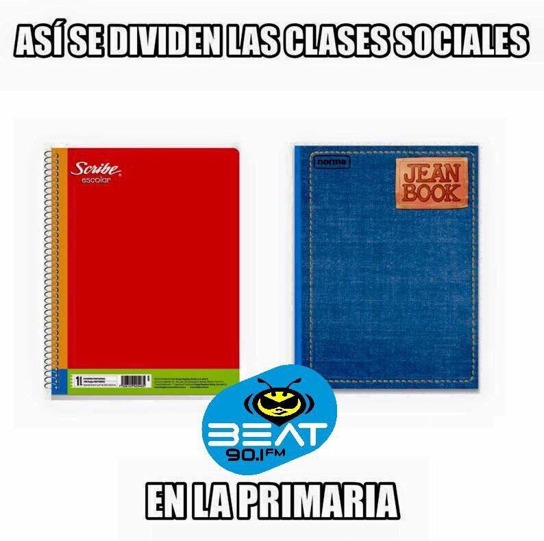 Jajajajaja hasta en la primaria hay clases sociales!!!