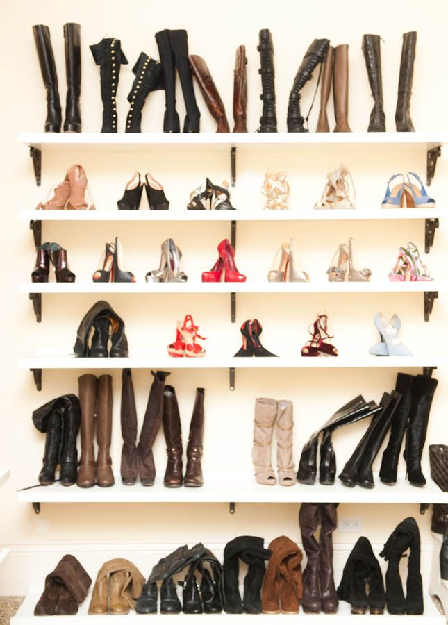 The Coveteur X Adrienne Maloof. The Poor Boots Need Some Assistance  Standing Upright. If