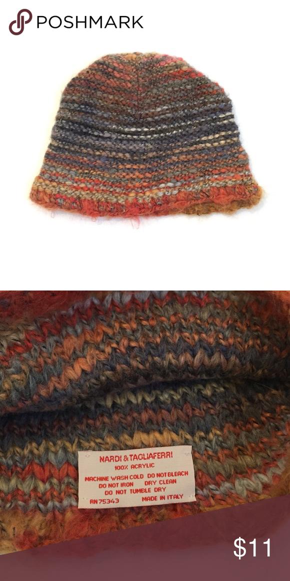 647c271b250 Multi colored warm beanie hat Italian multi colored hat. Accessories Hats