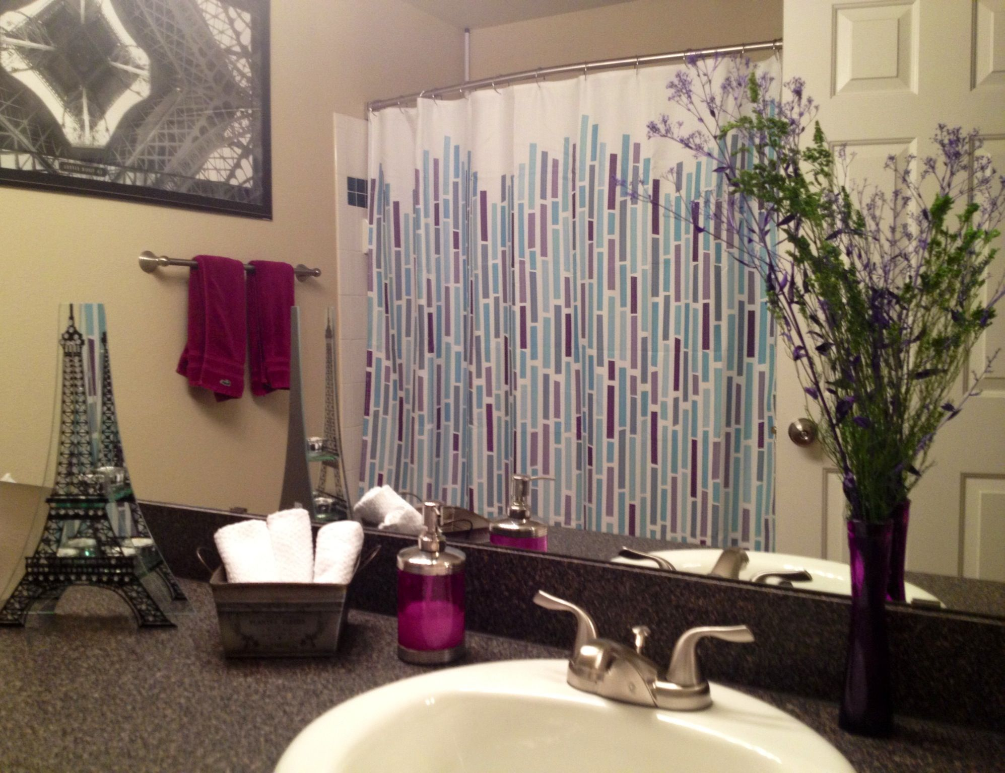 purple bathroom accessories ~ classia for .