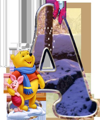 Alfabeto Ursinho Pooh Png Maiusculas E Minusculas Download