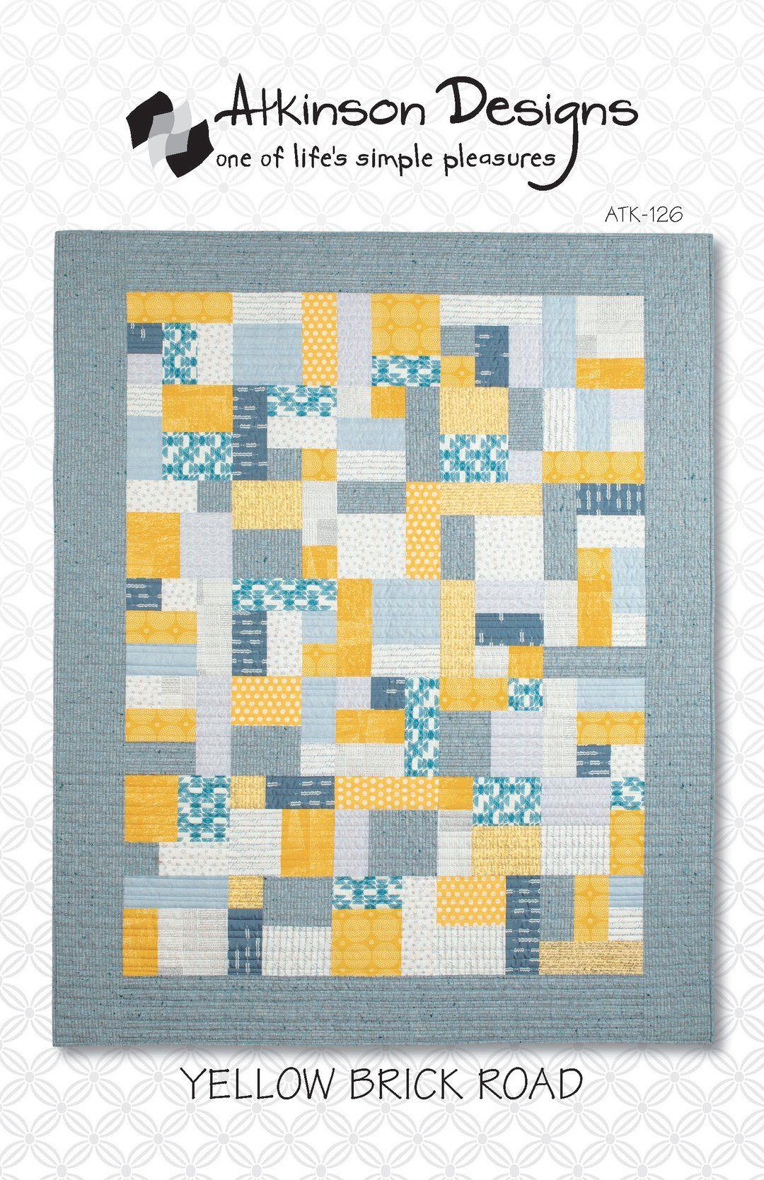 Yellow Brick Road Pattern Quilt Patterns Beginner Quilt Patterns Twin Quilt Pattern