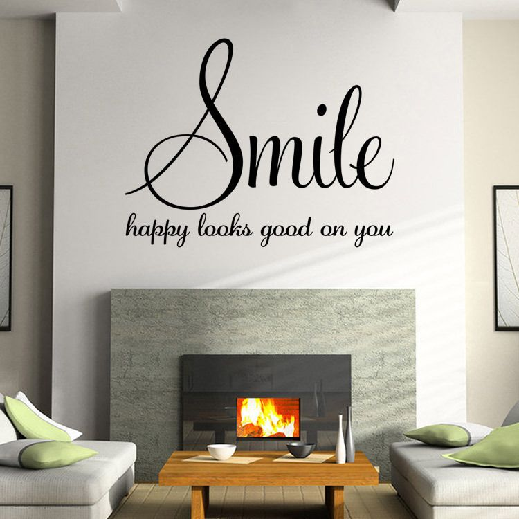 Family Words Smile Quotes Wall Sticker Poster Living Room Bedroom Wall Stickers Home Decoration Viny Wall Stickers Bedroom Wall Decor Quotes Wall Quotes Decals