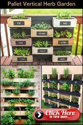 How smart is that? A vertical herb garden made from recycled pallets! #senkrechtangelegtekräutergärten