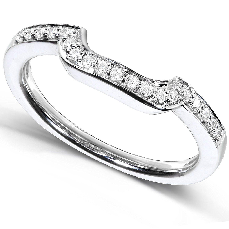 1/10 Carat TW Round Diamond Contoured Wedding Band in 14k
