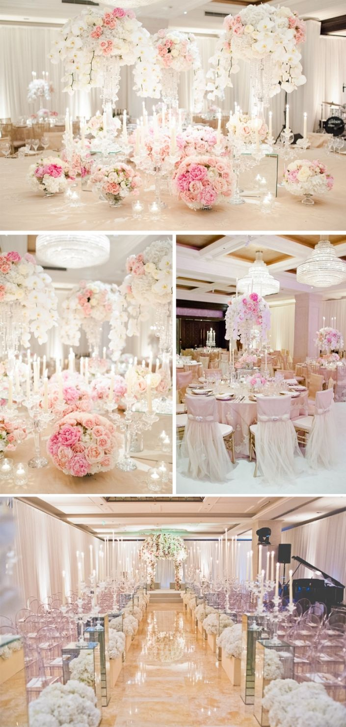 Candles, mirrors and glass add sparkle and make the flowers glow!