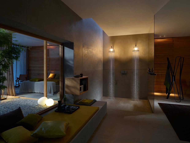Axor Showerlamp by Nendo, lampada con doccia o doccia con