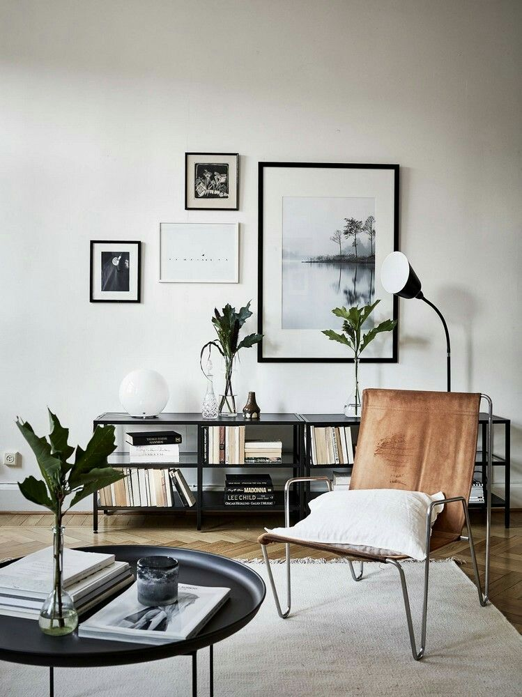 Cozy Modern Living Room With Hint Of 60s Style